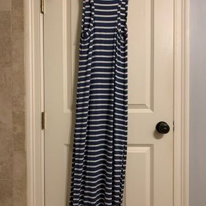 Blue & White Stripped J. Crew Maxi Dress